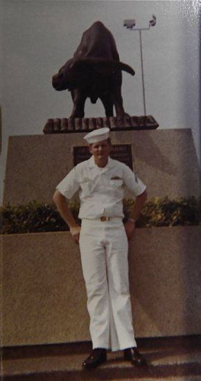 Bob Roberts, soon after his enlistment in the Navy during Vietnam.