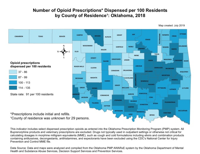 Opioid by county 2018